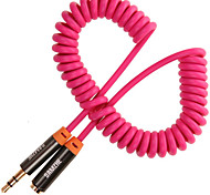 Audio jack de 3.5mm Cable, Audio jack de 3.5mm to Audio jack de 3.5mm Cable Macho - Hembra Cobre dorado 3,0 M (10 pies)