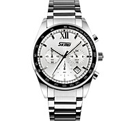 Men's Wrist watch Quartz Stainless Steel Band Silver