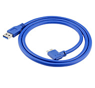 USB 3.0 Cable, USB 3.0 to USB 3.0 Micro-B Cable Macho - Macho 1,0 m (3 pies)