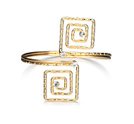 Lucky Doll Women's Cuff Bracelet Fashion Punk Alloy Square Jewelry For Birthday Gift Valentine Christmas Gifts