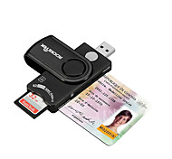Rocketek USB 2.0 Smart Card Reader DOD Military CAC Common AccessBank card ID SD Micro SD/TF MS M2sim card adapter SCR10