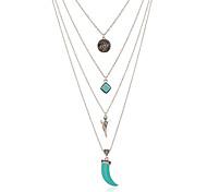 Жен. Ожерелья с подвесками Металлический сплав Резина В виде подвески Бижутерия Назначение Для улицы Для клуба