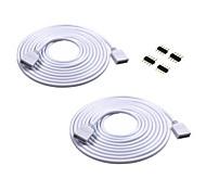 2шт удлинительный кабель длиной 2 м соединяет разъем для штепсельной вилки rgb 3528 5050 с разъемами 4шт.