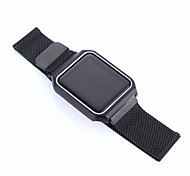 Milanese watch band с металлической рамой для серии часов для яблока 1 2 38 мм 42 мм браслет из нержавеющей стали