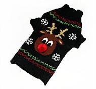 Собака Свитера Одежда для собак Рождество Новый год Северный олень