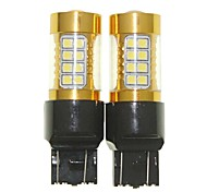 Sencart 2шт 7443 w21 21w w3x16q мигающая лампочка светодиодный фонарик автомобиля поворота заднего фонаря (белый / красный / синий /
