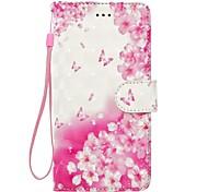Чехол для huawei p10 p10 lite телефон случай 3d эффект бабочка цветы шаблон pu материал кошелек раздел телефон дело p9 lite p8 lite p8