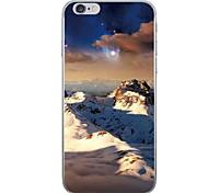 Случай для яблока iphone 7 7 плюс крышка случая снежок горный ландшафт картины hd покрашенный более толстый материал tpu мягкий случай
