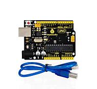 1шт keystudio одна плата r3 (оригинальная микросхема) 1шт кабель USB совместимый 100% совместимый для arduino uno r3