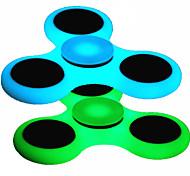 Спиннеры от стресса Ручной обтекатель Волчок Игрушки Игрушки Tri-Spinner Металл люминесцентный EDCСтресс и тревога помощи Фокусная