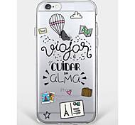 Случай для iphone 7 плюс iphone 6 слово / фразу мультфильм модель телефона мягкая оболочка для iphone 7 iphone6 / 6s плюс iphone6 / 6s