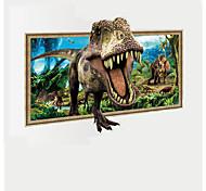 Животные фантазия 3D Наклейки Простые наклейки 3D наклейки Декоративные наклейки на стены 3D,Бумага Винил материал Украшение домаНаклейка