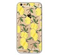 Чехол для iphone 7 плюс 7 обложка прозрачный узор задняя крышка чехол для фруктов плитка лимон мягкая tpu для яблока iphone 6s плюс 6 плюс