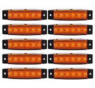 Ziqiao 10pcs 12v 6led боковые индикаторы габаритных огней лампа для автомобиля грузовик прицепа грузовик автобус 6 светодиодный янтарный /