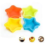 Пентакль звезда Форма торта выпечки Формы силиконовые Материал, случайный цвет