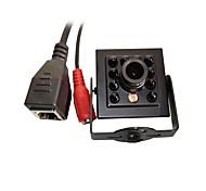 720p 1.0mp onvif cctv ip camera hi3518e и ночное видение 1/4 h62 cmos mini 940nm 10шт светодиоды