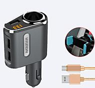 hyundai автомобильное зарядное устройство быстрое зарядное напряжение дисплея 1 розетка 3 порта USB 3.1a dc 12v-24v с держателем