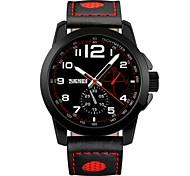 skmei моды бренда мужчин смотреть случайные кварцевые часы подлинной кожаный ремешок бизнес наручные часы спортивные 50 м