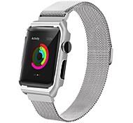 нержавеющая сталь замена ремень iwatch магнитная лента с металлической крышкой корпуса для серии часов яблока 2 серии 1 (42 мм силивер)