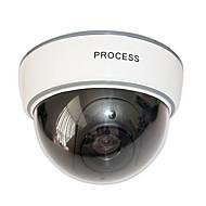 câmera dome segurança fictício com LED piscando vermelho