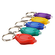 10mm Focused LED Flashlight Keychain Assorted Colors 5-Pack