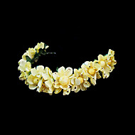 Kobiety Flower Girl Papier Winieta-Ślub Piękny Opaski Kwiaty