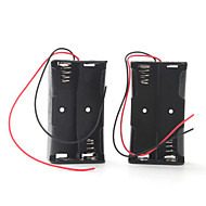 Battery Box for Four 18650 Batteries (Black)