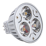 GU5.3(MR16) 3W 3 High Power LED 270 LM Warm White MR16 LED Spotlight DC 12 V