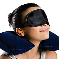U-shaped Inflatable Pillow, Eyeshade and Earbud Set