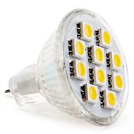 GU4(MR11) Lâmpadas de Foco de LED MR11 10 SMD 5050 120 lm Branco Quente DC 12 V