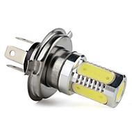 H4 kraftige 7.5W 400LM 5-LED hvid lys pære til bil