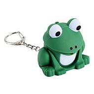 žába LED svítilna Keychain s Froggy zvukovými efekty