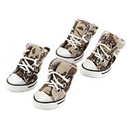 zapatos de estilo camuflaje lienzo pethingtm para perros (xs-xl, verde)