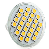 4W E14 / GU10 / GU5.3(MR16) / E26/E27 Faretti LED MR16 27 SMD 5050 300 lm Bianco caldo / Bianco V