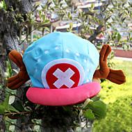 Hoed/Pet geinspireerd door One Piece Tony Tony Chopper Anime Cosplay Accessoires Kap / Hoed Blauw / Roze Fluweel Mannelijk
