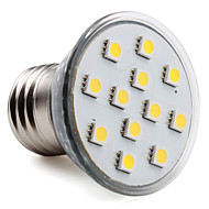 E26/E27 2.5 W 12 SMD 5050 150 LM Warm White PAR Spot Lights AC 220-240 V