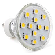 3W GU10 Focos LED MR16 12 SMD 5050 150 lm Blanco Cálido AC 100-240 V