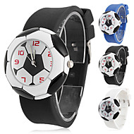 Children's Quartz Analog Football Style Dial Silicone Band Wrist Watch (Assorted Colors) Cool Watches Unique Watches Fashion Watch