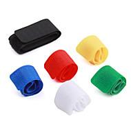 multi-coloridas organizador nylon prendedor de gerenciamento de cabo de fita (6-pack)