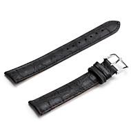 unisex äkta läder Armband 18mm (svart)