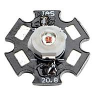585-595nm Epistar 3w 30-40lm 700mAh amarilla bombilla LED de luz con placa de aluminio (2.4-2.6V)
