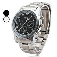 Hombre Reloj de Vestir Cuarzo Aleación Banda Plata Marca-