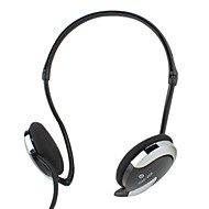 Kanen Stereo Neckband Design Headphone with Microphone and Volume Control (Black)