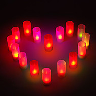 Romantic Candle Shaped Colorful LED Night Light for Wedding Party Gifts (8-Pack)