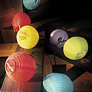 Solar kinesiske part Lantern String Lights (10-Pack)