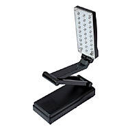 2W 27-LED Fold Eyeshield Reading Table bordlampe (Black, 220)