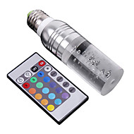 E26/E27 3 W 1 High Power LED 195 LM RGB/Color-Changing Remote-Controlled Candle Bulbs AC 100-240 V