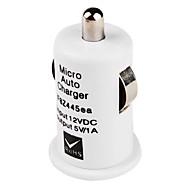 Mini chargeur de voiture USB pour iPhone 5 (blanc)