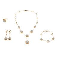 Sieraden-Kettingen / Oorbellen / Ringen / Armband(Kristal / Agaat / Juweeltje / Strass)Bruiloft Giften van het Huwelijk