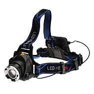 3-Mode Cree XM-L T6 LED Lampe frontale (10w, 700lm, 4xAA)